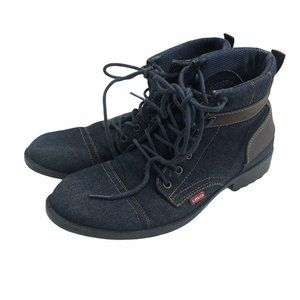 Levis Ankle Boots Lace Up Denim Jean Chukka 10.5